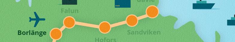 Karta Borlänge