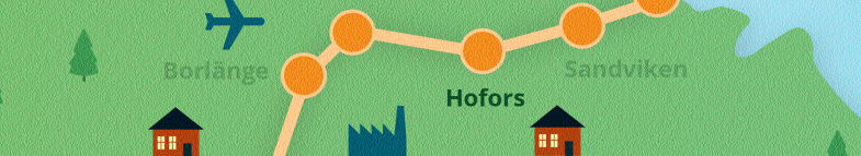 Karta Hofors